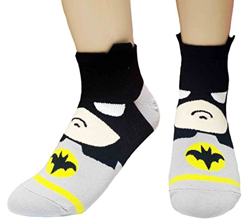 JJMax-Womens-Superheroes-and-Villains-Cute-Cartoon-Hero-Socks-Set
