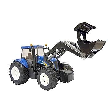 bruder 03021 tracteur new holland t8040 bleu avec fourche