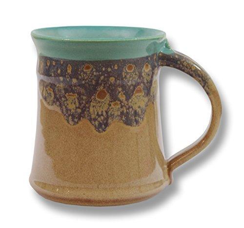 Clay In Motion Handmade Ceramic Medium Mug 16oz - Island Oasis
