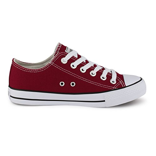 zapatillas para de zapatilla zapatos rojo Best borgoña cordones botas estilo mujer deportivo IwxYYSq