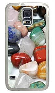 Colored River Stone Polycarbonate Hard Case Cover for Samsung S5/Samsung Galaxy S5 Transparent