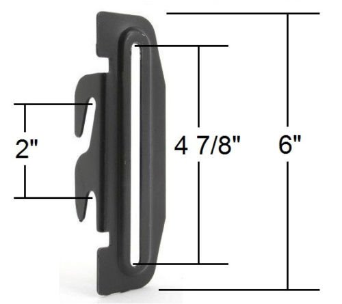 Innovative Gear #35 Bed Frame Conversion Brackets, Four (4) Down Hooks, Bolt-On to Hook-On, Headboard to Foot Board, Bed Frame Adapter Plates, 2 Inch Height Adjustment. Pack of 4