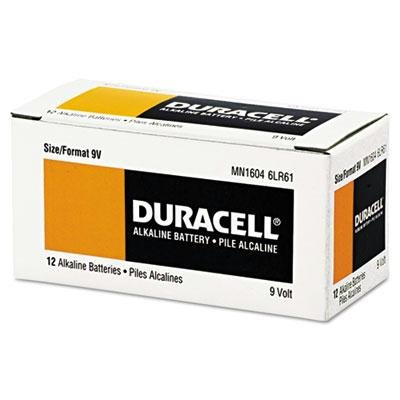 Duracell - Coppertop Alkaline Batteries With Duralock Power Preserve Technology 9V 12/Pk ''Product Category: Breakroom And Janitorial/Batteries & Electrical Supplies''