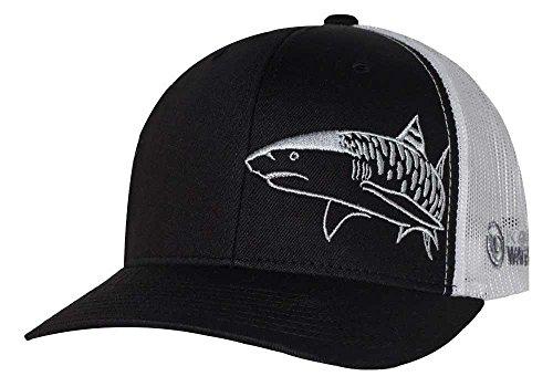 (Tiger Shark Hat: Scuba Diving Trucker Cap: Freediving | Dive | Spearfishing - Black)
