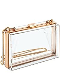 Cute Transparent Clear Acrylic Crossbody Box Clutch...