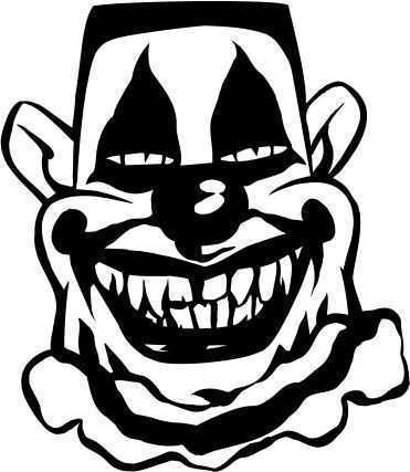 SCARY LOOKING SMILING CLOWN MAN CAR DECAL STICKER, Black, 12 Inch, Die Cut Vinyl Decal, For Windows, Cars, Trucks, Toolbox, Laptops, Macbook-virtually Any Hard Smooth (Scary Looking Clowns)