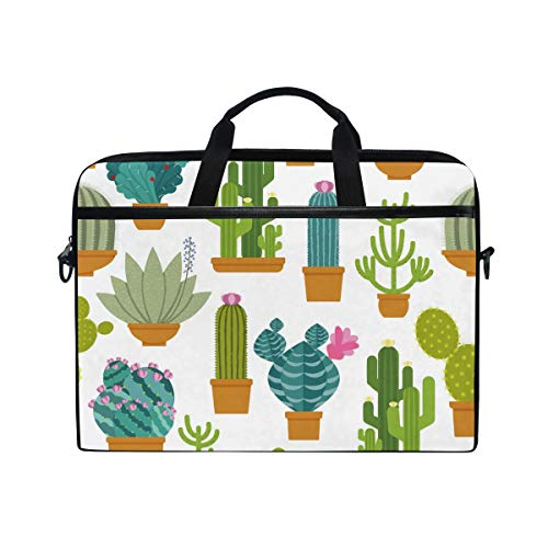 Price comparison product image Ocotillo Cactus and Colorful Flower Laptop Shoulder Bag Compatible with 15-15.4 inches 2019 New,  Also Suitable for Men's and Women's Business Office Bag