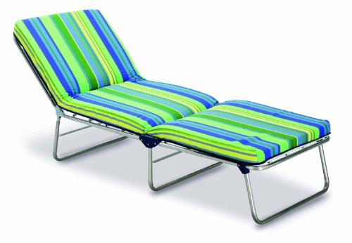 Best 33450085 Federbett 3-Bein-Liege Nizza, silber / grün