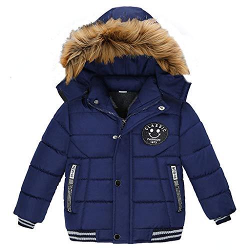 Kinderwinterjas jongens mantel met capuchon pluche klassiek gevoerde winter bontkraag kleding