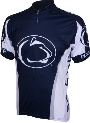 Adrenaline Bicycle - Adrenaline Promotions Penn State Cycling Jersey,Small, Blue