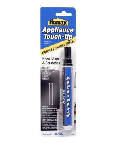 Homax Group 5555 Appliance Touch Up Pen, - Metal Black Stove