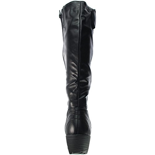 Heavenly Feet Sandstorm Ladies Calf Length Boots Black sOhieBBppM