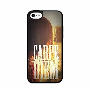 Blonde Hair Carpe Diem TPU RUBBER SILICONE Phone Case Back Cover iPhone 5 5s includes BleuReign(TM) Cloth and Warranty Label