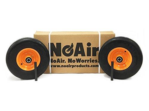NoAir (2) Scag Flat Free Wheel Assemblies 13x5.00-6 Replaces 482503 ()
