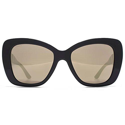 4f340c2b21c53a Versace Medusa Logo torché lunettes de soleil miroir or brun noir VE4305Q  GB1 5A 54 ...