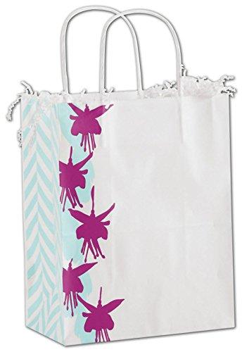 EGP Shoppers 8 1/4 x 4 3/4 x 10 1/2 (Fuchsia Floral) (Floral Shopper)