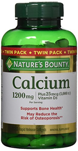 Nature's Bounty Calcium 1200 mg + D Twin Pack , 120 Softgels