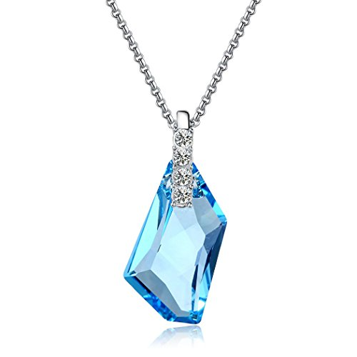 Oanthan Aqua Blue Crystal Pendant Necklace
