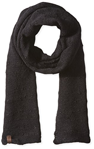 True Religion Men's Slub Knit Scarf, Black, One Size