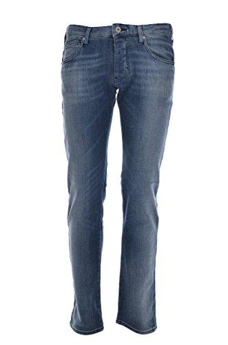 Emporio Armani - Vaqueros Hombre de 5 bolsillos Jeans Scuro