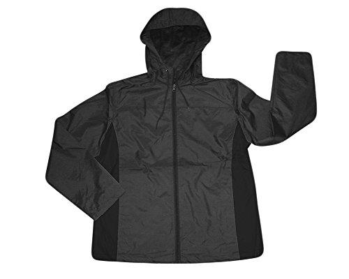 Men's i5 lightweight Hooded Windbreaker Jacket,X-Large,Dark Grey/Black