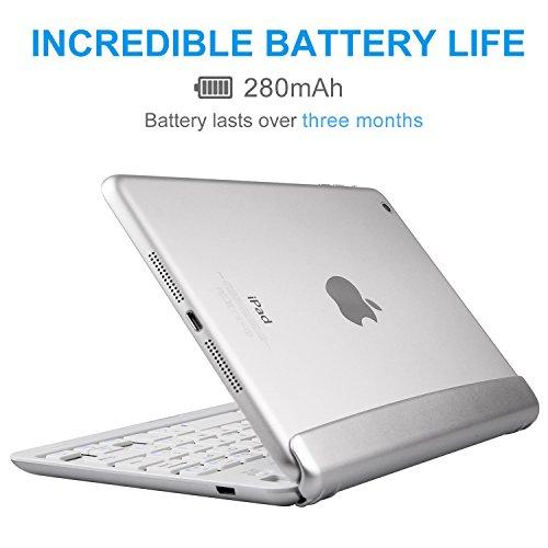iPad Mini 3/2/1 Keyboard, Raydem Ultra-Thin iPad Mini Wireless Bluetooth Keyboard Folio Cover 130 Degree Multi-Angle Swivel Rotating with Auto Wake/Sleep for Apple iPad Mini 1/2/3 by Raydem (Image #2)