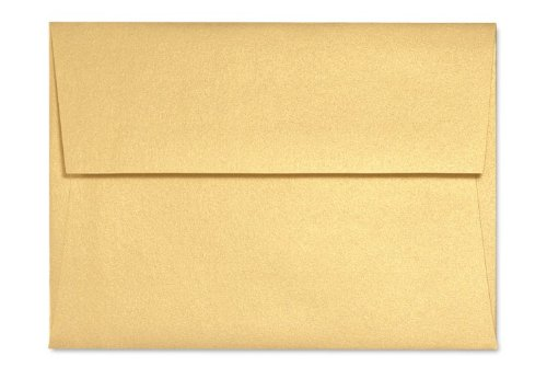A2 Invitation Envelopes (4 3/8 x 5 3/4) – Gold Metallic (50 Qty.), Office Central