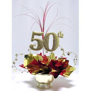 Awesome Events N5020RB6 50Th Milestone Centerpiece, 2 Pack