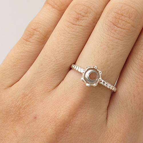 Signed 925 Sterling Silver Water Lily Design Ring Size 8 Jewelry by Wholesale Charms