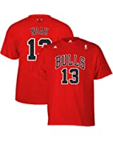 Joakim Noah #13 Chicago Bulls Adidas Adult Red Name and Number Shirt