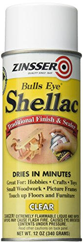 (Rust-Oleum Zinsser 408 Bulls Eye Clear Shellac Spray 12 oz)