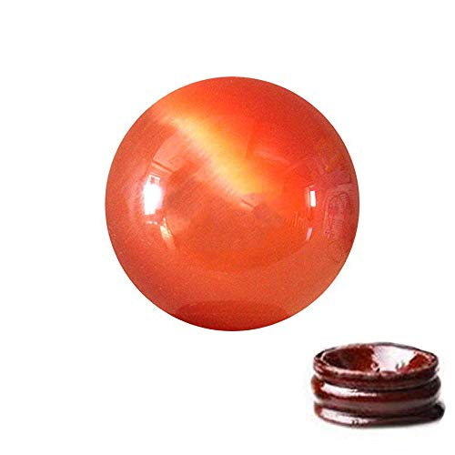 al Quartz Cat Eye Crystal Healing Ball - Feng Shui Crystal Ball for Wealth and Protect The House + Free Red String Bracelet (Orange) ()