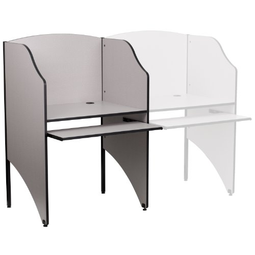 Flash Furniture Starter Study Carrel in Nebula Grey Finish (Best Private Schools In Northern Virginia)
