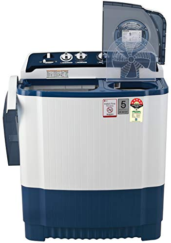 LG 7.5 Kg 5 Star Semi-Automatic Top Loading Washing Machine (P7535SBMZ, Dark Blue) 2021 June Semi-automatic washing Machine: Economical, Low water and energy consumption, involves manual effort; Has both washing and drying functions Energy rating 5 Star: Best in energy efficiency Manufacturer Warranty: 2 Years Comprehensive & 5 years on Motor T&C