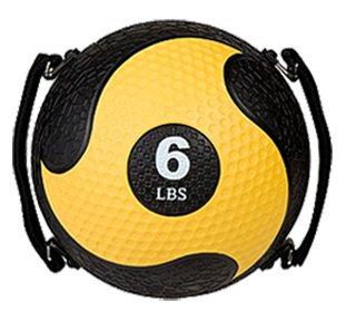 Champion Sports Rhino Ultra Grip Medicine Ball, Yellow