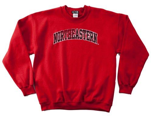 NCAA Northeastern Huskies 50/50 Blended 8-Ounce Vintage Arch Crewneck Sweatshirt, Medium, Red