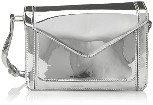 PIECES Pcgibina Cross Body - Bolsos bandolera Mujer Plateado (Silver Colour)