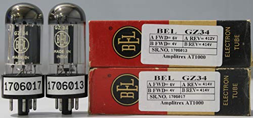 1MP GZ34 BEL NOS Nib Dual O Getter Made in India Amplitrex Tested#1706013&17 (Best Amplifier For Home In India)