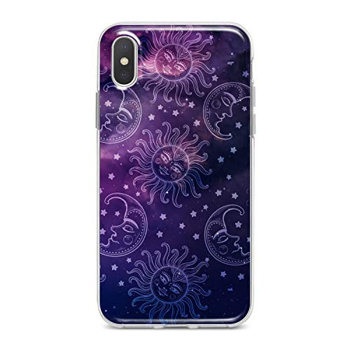 (Lex Altern TPU Case for iPhone Apple Xs Max Xr 10 X 8+ 7 6s 6 SE 5s 5 Lightweight Teens Cute Smooth Stars Sun Moon Clear Soft Gift Tender)