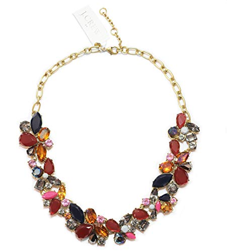 J.Crew Factory Women's Crystal Cluster Statement Necklace for sale  Delivered anywhere in USA