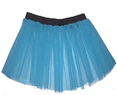 A-Express Femme Adulte 3 couches Fluo Non Tutu Jupe Partie Dguisement Bleu