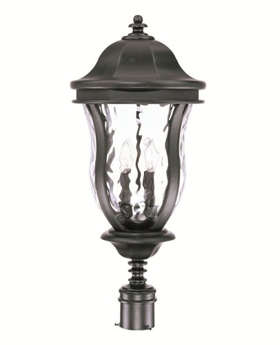 Savoy House Lighting KP-5-308-ES-40 Monticello Collection 29-inch Outdoor Energy Star Post Mount Lantern, Walnut Patina Finish with Tuscan (Patina Outdoor Pier Mount)