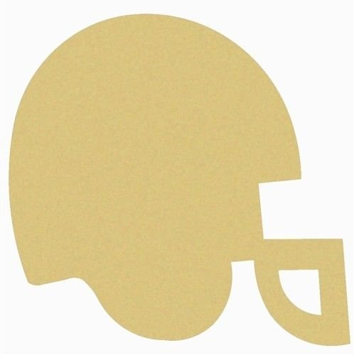 Football Helmet Cutout Unfinished Wood MDF Cutouts Decor Sports Theme USA Made (12