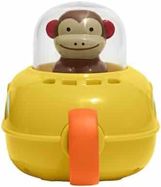 Skip Hop Pull & Go Monkey Submarine: Baby Bath Toy, Marshall Monkey Zoo Character