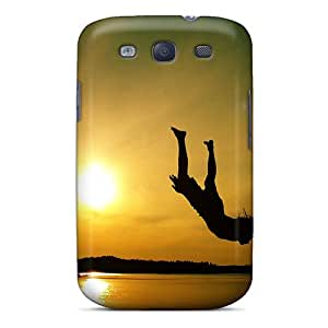 Premium Jump In The Water Back Cover Snap On Case For Galaxy S3