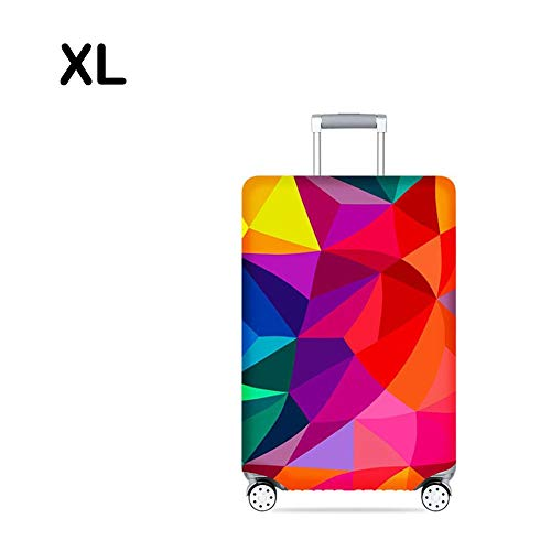 (Beautiful Luggage Cover Dustproof Elastic Luggage Case Covers Suitcase Trolley Case Thickened Dust Sleeve Protective Cover Travel Around Dreams Modern Camouflage Colorful Geometry Romantic Tower)
