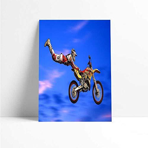 Quadro Decorativo - Motocross Superman - Quadro 20x30