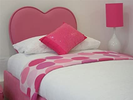 Heart Shaped Headboard 3ft Single In Rose Velour Amazon Co Uk Kitchen Home