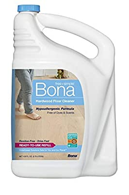 Bona WM700018182 Free & Simple Hardwood Floor Cleaner Refill MegaPACK 1Pack (1Gallon)