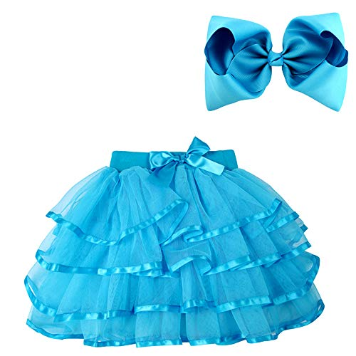BGFKS 4 Layered Tulle Tutu Skirt for Girls